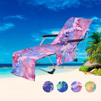 Wholesale outdoor games for sale - Group buy Beach Chair Cover Hot Lounger Mate Beach Towel Single Layer Tie dye Sunbath Lounger Bed Outdoor Games Beach Chair Cover CCA11689