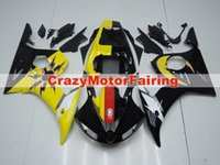 Wholesale yamaha r6 yellow plastics for sale - Group buy New ABS Molding motorcycle plastic Fairings Kits Fit For YAMAHA YZF R6 Fairing bodywork set custom yellow black