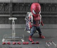 ingrosso mini figurine-ZXZ Marvel Avengers Spiderman 18cm Q versione Action Figure Anime Mini Decorazione Collezione PVC Figurina Toy modello regalo