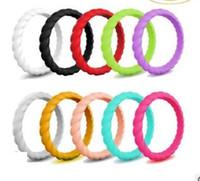 bandas de silicone rosa venda por atacado-Anel de silicone anéis de banda de torção anel de casamento colorido partido aniversários presentes vermelho rosa verde azul 218