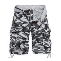 camuflagem shorts quentes venda por atacado-2019 Verão Hot Algodão Camuflagem Carga Shorts Homens Casuais Magro Camo Shorts Dos Homens Militares Homem Bermuda Shorts J190425
