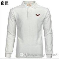 fallmantel trends großhandel-Herbst Herren Langarm T-Shirt Trend einfarbig Revers dünnes Hemd POLO Hemd Herren Herbst Mantel