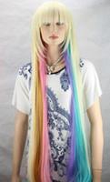 uzun doğal sarışın kıvırcık peruk toptan satış-Ücretsiz kargo Moda Peruk Yeni Uzun Seksi kadın Mix Sarışın Cosplay Parti Kıvırcık Doğal Peruk