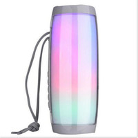 Wholesale audio lights resale online - LED Lamp Bluetooth Speakers TG157 Portable Wireless Speaker Support Colorful Light Bass FM Radio TF Card Handsfree Call AUX Life Waterproof