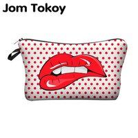 милые печатные косметические сумки оптовых-Высокое качество печати сумки Косметика Сумки с многоцветным узором Симпатичные Косметика Pouchs для путешествий дамы мешка женщин Cosmetic Bag