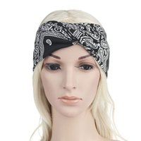 Wholesale bohemian headwear resale online - 6 Colors Cute Bow Hairband Turban Knotted Rabbit Hair Band Headband Bohemian Floral Lace Headband Headwear Party Favor
