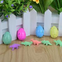 sihirli kuluçka yumurtası toptan satış-10pcs / Büyüyen Dinozor Su Dino Yumurta Sevimli Çocuk Çocuk Oyuncakları Rastgele Renk büyütün ekle Kuluçka Sihirli Tricks 1sets
