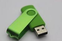 32gb flash bellekler bellek çubuğu toptan satış-Sıcak Promosyon pendrive 32 GB 64 GB 128 GB 256 GB USB Flash Sürücü için hediye U Disk ile dönme tarzı memory stick 1 adet