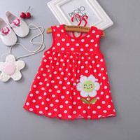bebek kızı elbiseleri toptan satış-Bebek kız Elbise 2018 yaz kızlar elbiseler stil infantil Elbise sıcak satış bebek kız giysileri Yaz çiçek tarzı düşük fiyat