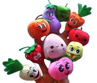 Wholesale finger fruits vegetables toys for sale - Group buy 1000pcs Fruit and Vegetable Finger Figure stuffed plush Fruit finger puppets doll bigkids Vegetable Doll stuffed DHL Free
