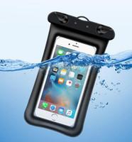 blackberry handy abdeckungen großhandel-Universal Float Airbag Wasserdichte Schwimmen Tasche Handy Hülle Trockenen Beutel Tauchen Treiben Riving Trekking Taschen für iphone xs max S10