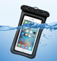Wholesale iphone swimming case for sale – best Universal Float Airbag Waterproof Swimming Bag Mobile Phone Case Cover Dry Pouch Diving Drifting Riving Trekking Bags for iphone xs max S10