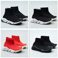 kinder-mode schuhe stiefel groihandel-2018 Kids Fashion Ankle Boots Geschwindigkeit Stretch Mesh Sneaker Laufschuhe Speed-Knit-Socken-Mid-Top Trainer-Turnschuhe