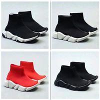 bota moda crianças venda por atacado-2018 moda infantil Botas velocidade estiramento malha de alta treinador top Running Shoes velocidade Knit Sock Mid-treinador top Sneakers