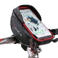 bolsa para guidão venda por atacado-Saco Da Bicicleta Da Frente Da Bicicleta À Prova D 'Água MTB Estrada Ciclismo Bolsa Ciclismo Top Tubo Quadro Saco De Guiador 6.0 polegada de Celular saco