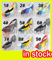 Wholesale sunglasses mixed colours resale online - summer newest style woman fashion driving SUN glasses colors men Bicycle Glass NICE sports sunglasses Dazzle colour glasses