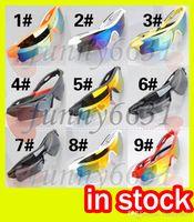 bicicleta deportes gafas de sol al por mayor-Verano más nuevo estilo mujer moda conducción gafas SUN 9 colores hombres Bicicletas Glass NICE gafas de sol deportivas deslumbran gafas de color envío gratis