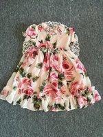 ingrosso le ragazze di seta veste i manicotti-Grandi ragazze abiti in chiffon di seta fiore estate 2019 bambini Boutique abbigliamento 5-10Y ragazze maniche corte abiti floreali