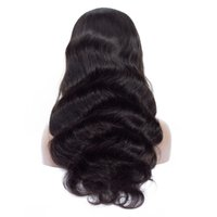 Wholesale brazilian lace wig free shipping for sale - Group buy Newest Wigs Black Wavy Wig Full Lace Human Hair Wigs Inch Lace Real Hair Wig Women Hair Wigs Lace Hat Card issue