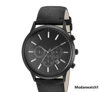 Wholesale big leather watches men resale online - Men s Watches Fashion Sports men brand watch ar2461 mens Quartz dress watches mm big dial high quality genuine leather