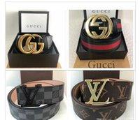 marcas de moda para mujer cinturones al por mayor-2019 marcas de diseñadores principales cinturones para hombres negocios de ocio cinturones de lujo cinturones de moda de alta calidad con caja original