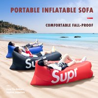 Wholesale day beds resale online - Outdoor Trendy Air Cushion Sofa Camping Travel Leisure Family Day Portable Wear Resistant Amphibious Air Bed