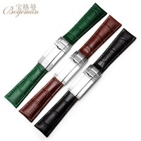 Wholesale combining tools resale online - 20mm leather leather strap combined buckle strap Deepesa GMT Seamarster Watch tool