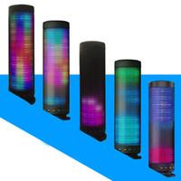ingrosso audio boombox-Altoparlanti portatili a LED Bluetooth Wireless MP3 Musica Audio TF USB Radio FM Boombox Stereo subwoofer Cassa audio Altoparlante per PC