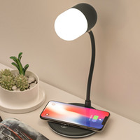 3 in 1 Flexible LED desk lamp USB charging with wireless charger bluetooth speaker table light Smart Touch Dimmer lighting phone chargers L4