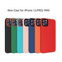 ingrosso iphone casi puro-Nuova custodia in silicone solido per iPhone 11 Pro Max Cover morbida in tinta pura per Apple 6S 7 8 Plus XR XS