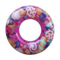 ingrosso clown gonfiabili-2019 Bambini Cartoon Nuoto Circle Clown Fish Lollipop Gonfiabile Galleggiante Anello Sicuro Nuoto Anello Nuoto Giocattoli