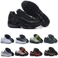ingrosso colori scarpe da corsa uomini-Nike Air Max 95 Good Neon Men'Running Shoes For Women Sneakers Sports 97 Designer Trainer Nero Bianco Colori Vendite calde