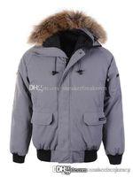 парковая куртка мужская чёрная оптовых-Гусь зима куртка человек Канада новое прибытие продажа мужская Guse Chateau черный темно-серый пуховик зимнее пальто / куртка продажа с выходом