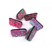 Wholesale travel accessories online - 2019 Neoprene Makeup Bag Lilly Floral Travel Case Rose baseball Neoprene Accessories Cosmetic Bag style
