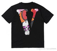 camisas de la nave v al por mayor-Los últimos amigos de la moda de una sola impresión de LONE camiseta de los hombres de la moda de los hombres monopatín camiseta de la camiseta del hip-hop envío libre camiseta de algodón