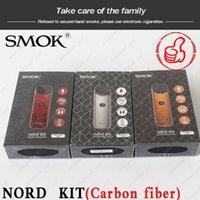 bobinas ohm venda por atacado-Authentic 1100mAh SMOK Nord Kit Pod Sistema de Kits com botão de fogo Nord cartucho de 3 ml de malha Bobinas regulares para ambos os Sub-ohm MTL Vaping DHL
