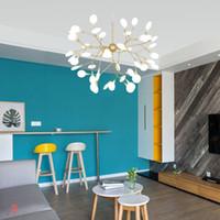12 bombillas g4 al por mayor-Lámpara moderna de luz LED de la luciérnaga rama de árbol colgante decorativo accesorio de iluminación de la lámpara de techo colgante ligera Bombillas G4 Incluye dinastía