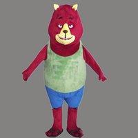 traje de urso vermelho venda por atacado-Traje novo da mascote do urso vermelho novo para o traje do Dia das Bruxas do Natal