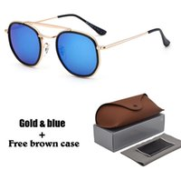Wholesale general sunglasses resale online - New arrived Sunglasses for Men women Brand Designer Sun glasses General Square glasses Metal Frame UV400 Lens with Retail cases and box