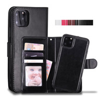 Wholesale pocket phones resale online - Cyberstore Phone Case Leather Wallet Case Magnetic in1 Detachable Cover Cases For iPhone Pro xs Max Samsung Note10 S10 Plus