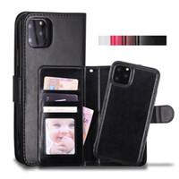 deri çantalar toptan satış-iPhone 11 Pro xs Max 7 8 Samsung Note10 S10 Artı İçin Cyberstore Telefon Kılıfı Deri Cüzdan Kılıf Manyetik 2in1 Ayrılabilir Kapak Kutuları