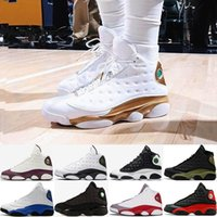 Wholesale basketball shoes cp3 resale online - Cheap XIII s CP3 Basketball Shoes Olive Wheat all star Chicago Athletics j13 Sneakers Hot Men Sports shoes white black