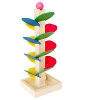 bebek oyuncakları oyunları toptan satış-Bebek Modeli Yapı Taşları Ahşap Ağaç Topu Run Parça Oyunu erken Eğitici Oyuncak Bebek Çocuk Hediye Seti