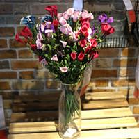 Wholesale silk lilies resale online - Calla Lily Bouquet Decorative Flowers Heads Soft PE Material Stereoscopic Plump Exquisite Artificial Flower sy E1