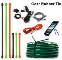 cable multiuso al por mayor-50 UNIDS Original Gear Tie, Surtido Color Tamaño Reutilizable Caucho Twist Tie Cable para Home Garden Exterior Multi-USO Twine Binding Fixing Tool