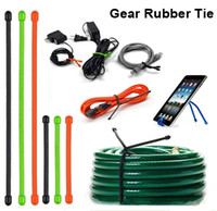 Original Gear Tie, Assorted Color Size Reusable Rubber Twist Tie Cable for Home Garden Outdoor Multi-USE Twine Binding Fixing Tool