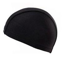nager porter des chapeaux achat en gros de-Chapeau de maillot de bain homme femme grande taille Adulte Bonnet de bain imperméable Bonnet Protéger les oreilles