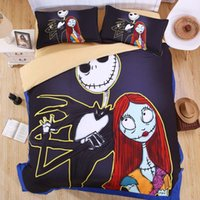 Wholesale full size bedding for girls for sale - 100 Luxury Nightmare Before Christmas Duvet Cover Set King Queen Full Twin Size for Kids Boys Girls Bedding Set Bed Sheet Set