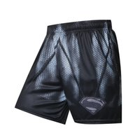 Wholesale batman clothes for sale - Group buy Black superman batman New Shorts Men Summer Hot Sale Beach Shorts Casual Style Loose Elastic Fashion Brand Clothing T200325
