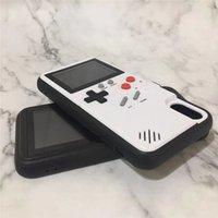 dhl jogos jogar grátis venda por atacado-Tetris gameboy casos de telefone play blokus game console capa de proteção à prova de choque tpu para iphone 6 6 s 7 8 plus pacote de varejo livre dhl